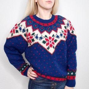 90s Vintage Eddie Bauer Nordic Fair Isle Sweater